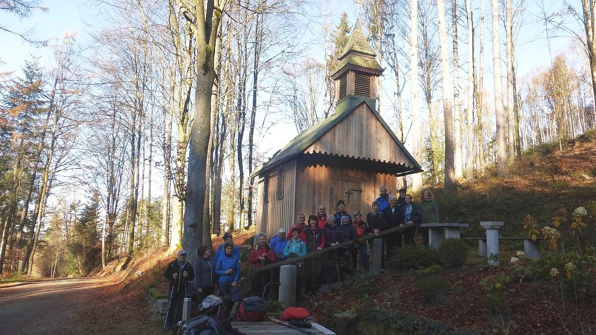 """Wanderung """"Vom Alpenblick zu den Erlaustauseen"""" 23.11.2019"""