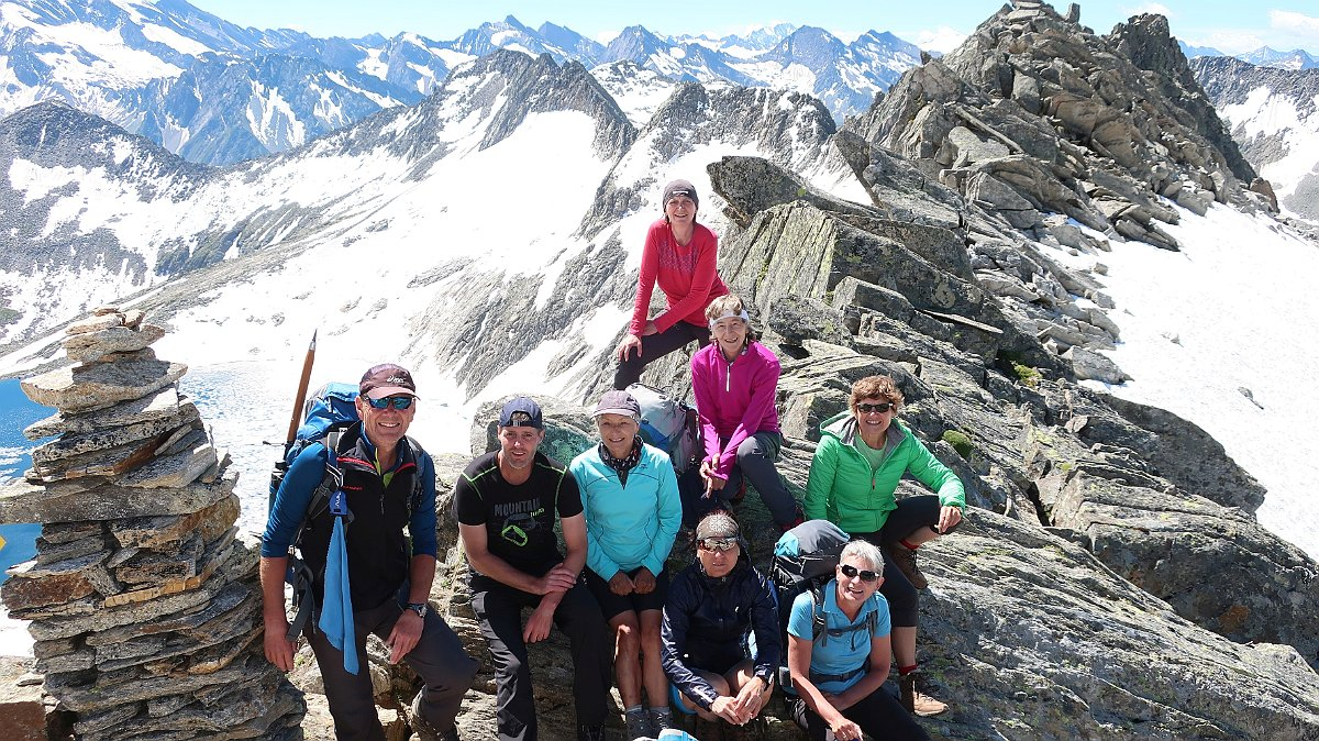 Alpenverein Freyung unterwegs im Hochgebirge